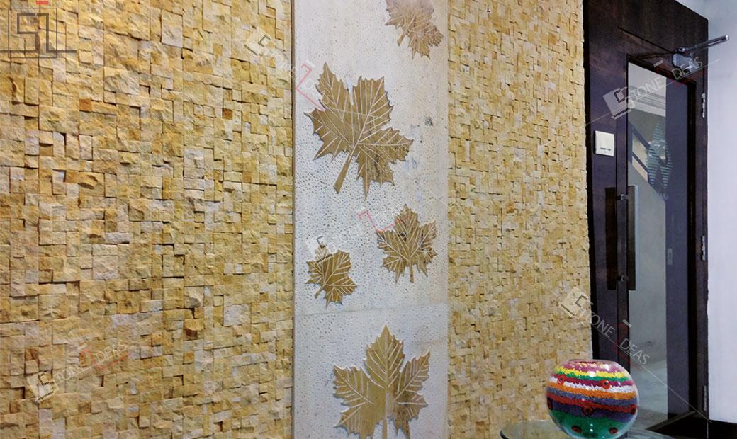 Natural Stone Murals Engraving Applications At Interior