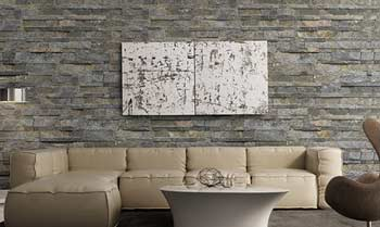 stone wall tiles for bedroom